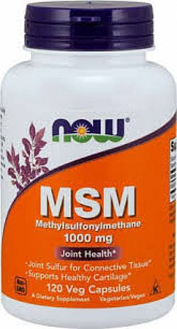 MSM 1500 mg - Vegetarian 100 Tabs NOW