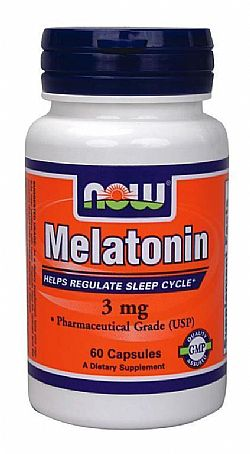 MELATONIN 3 mg - 60 Caps NOW
