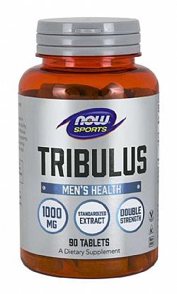 TRIBULUS 1000 mg 2x45% Extract, Vegan 90 Tabs NOW