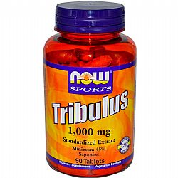 TRIBULUS 1000 mg 2X 45% Extract -  Vegetarian 90 Tabs NOW