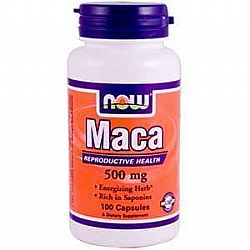 MACA 500 mg, 100 Caps NOW