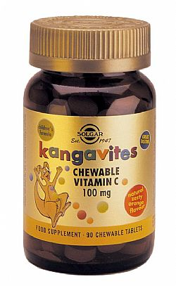 Kangavites Chewable Vitamin C 100mg  chew. tablets 90s (πορτοκάλι)