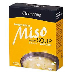 Miso Σούπα Στιγμής Λευκή με Τόφου (4 μερίδες) Clearspring