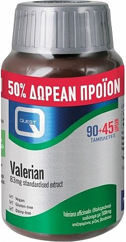 VALERIAN 83mg extract eq. to 500mg 90tabs