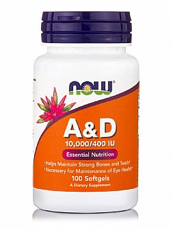 Vitamin A&D 10,000 IU/400IU 100 Softgels NOW