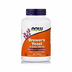 Brewers Yeast 650 mg, 10 Grain (Vegetarian), 200 tabs NOW