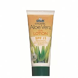 Organic Aloe Vera Sun Protection SPF15 200ml