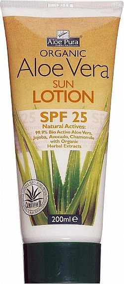 Organic Aloe Vera Sun Protection SPF25 200ml