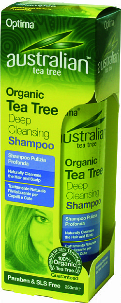 Organic Tea Tree Deep Cleansing Shampoo 250ml